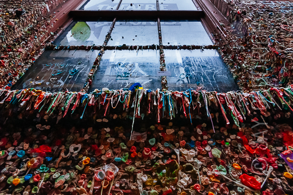 Gum Wall Window Drip Seattle by Jay Goodrich