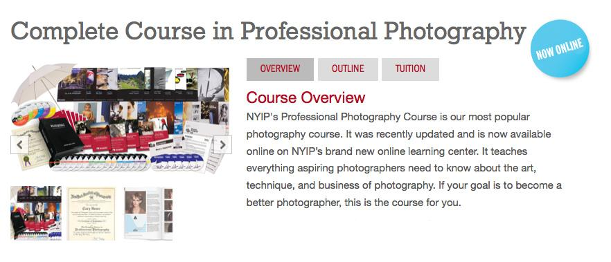 New York Institute of Photography launches the Complete Course in Professional Photography online