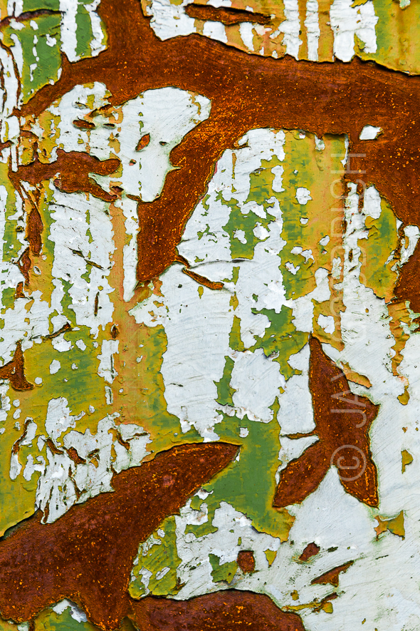 Abstract Metal Rust Chinese Painting by Jay Goodrich