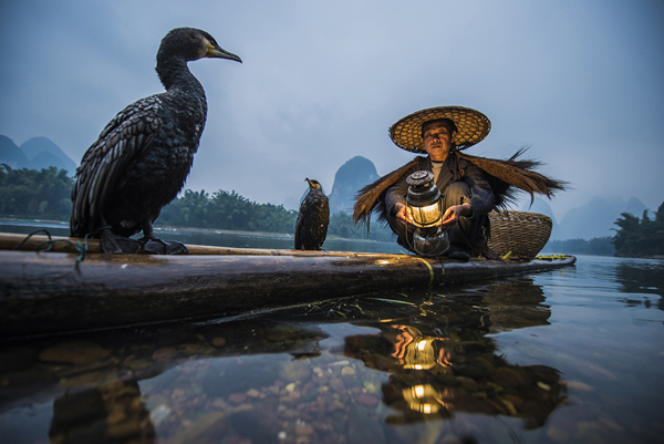 """Cormorant Fisherman"" by Garret Suhrie"