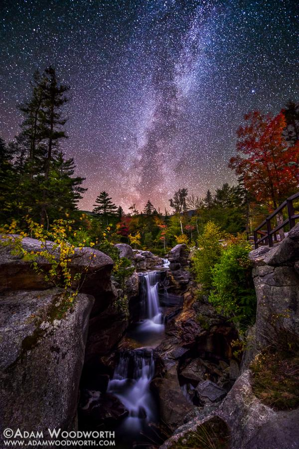 Milky-Way-Over-Screw-Auger-Falls-by-Adam-Woodworth