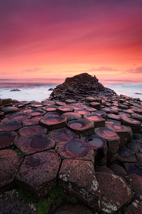 basalt pillars pillers cast up by a volcanic eruption in County Antrim Northern Island Giant's Causeway Giant's Causey