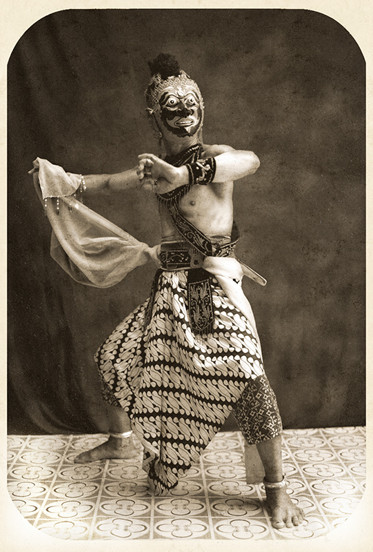 Brojonoto by Diego Zapatero - Masked actor representing the relative and companion of Prince Panji