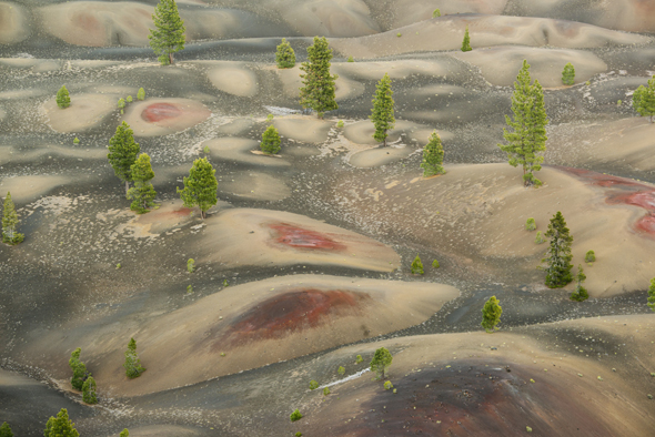 Painted Dunes below Cinder Cone, Lassen Volcanic National Park, California