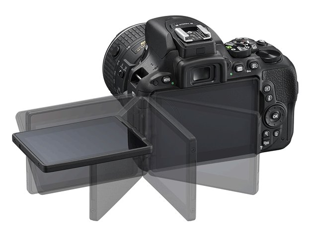 Nikon D5500 fully articulating LCD touch screen