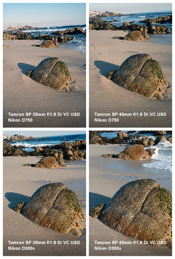 Tamron SP 35mm and 45mm comparison.