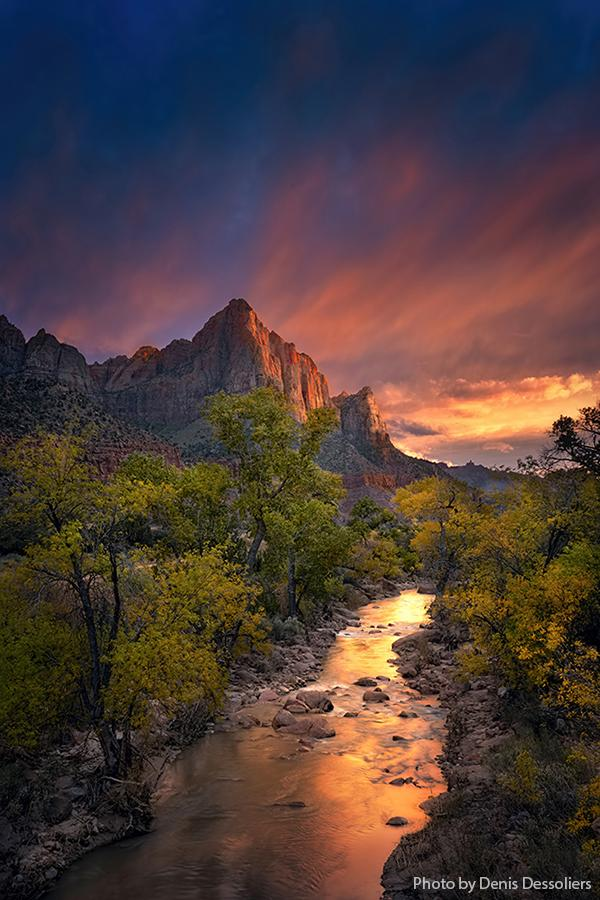 Watchman Tower, Zion National Park, Utah,