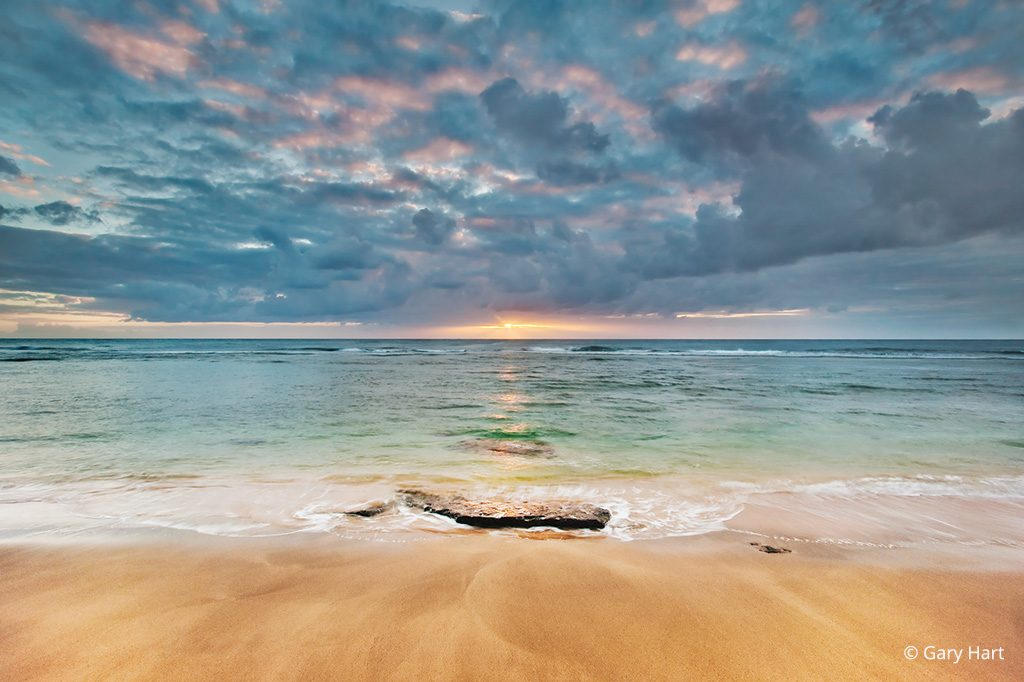 I used a Singh-Ray 3-stop reverse GND filter, which allowed me to target my filter density on this Ke'e Beach horizon in Hawaii, where it was needed most. Photo by Gary Hart