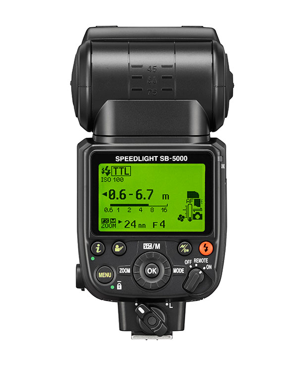 Nikon's new SB-5000 Speedlight is their first with integrated radio control, which is also built-in to the D5.