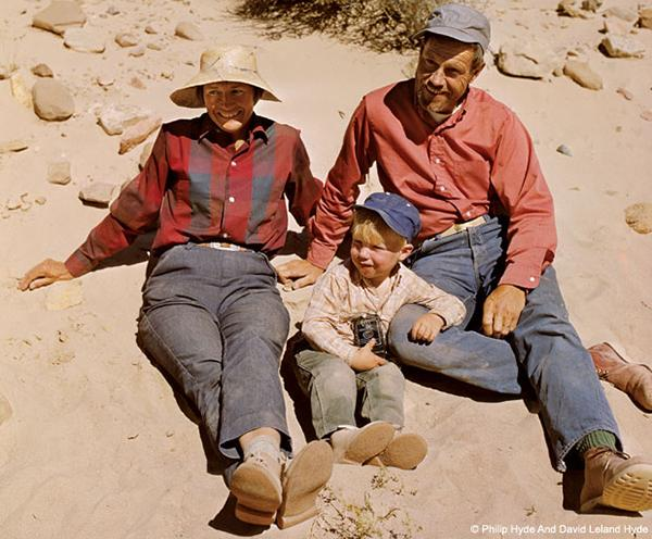 Ardis, David and Philip Hyde, Self Portrait, Waterpocket Fold, Capitol Reef National Park, Utah, 1970. © Philip Hyde Photography.