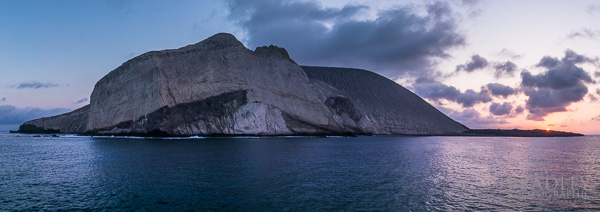 A pano stitch of San Benedicto Island, our first stop at las Islas Rivellagigedos archipelago.