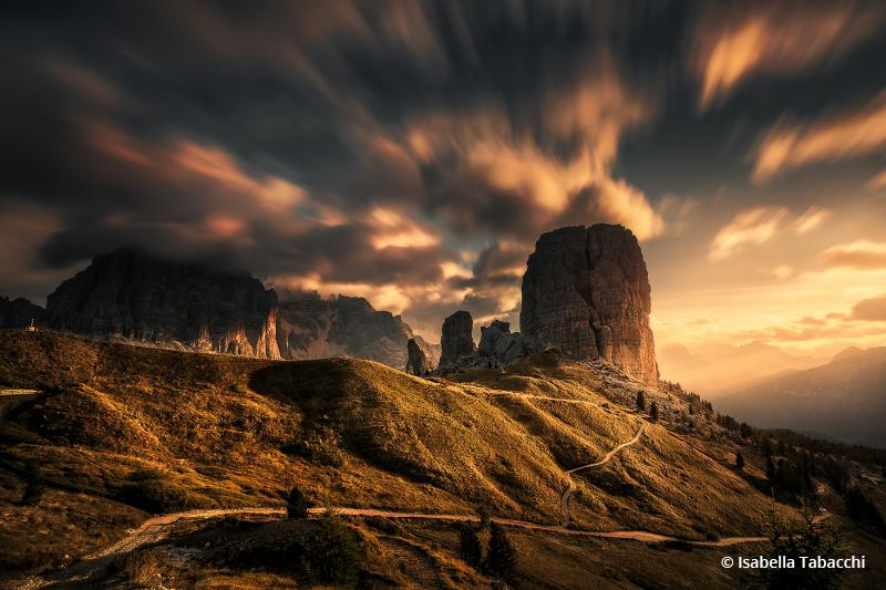 "Today's Photo Of The Day is ""Moving In The Morning"" by Isabella Tabacchi. Location: Five Towers, Dolomites mountain range near Cortina D'Ampezzo, Italy."