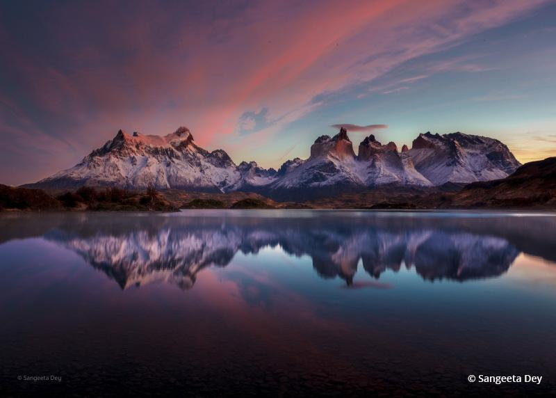 """Today's Photo Of The Day is """"Morning Raga"""" by Sangeeta Dey. Location: Torres del Paine National Park, Chile."""