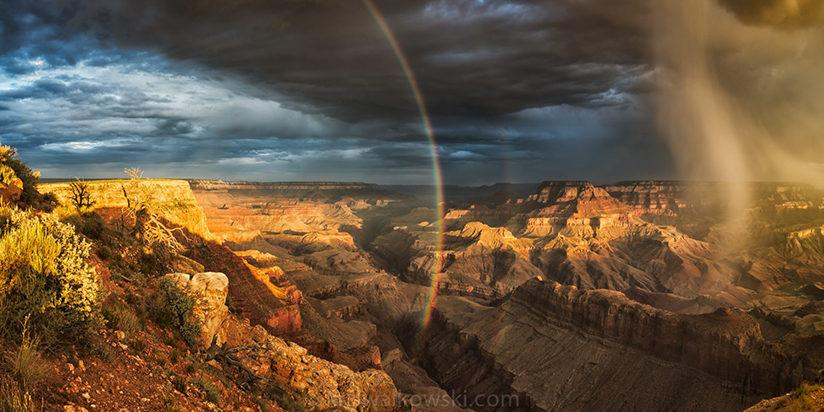 """Congratulations to Kris Walkowski for winning the Stormscapes Assignment with the image, """"The Grace Within The Canyon,"""" a six-image panorama taken at Lipan Point at the South Rim of the Grand Canyon."""