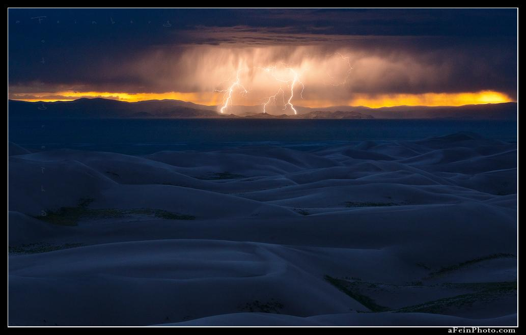 "Today's Photo Of The Day is ""High Voltage"" by Aaron Feinberg. Location: Great Sand Dunes National Park, Colorado."