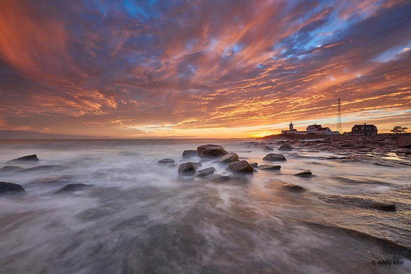 """Today's Photo Of The Day is """"Sunset After Storm"""" by Andy Kim. Location: Eastern Point Lighthouse, Gloucester, Massachusetts."""
