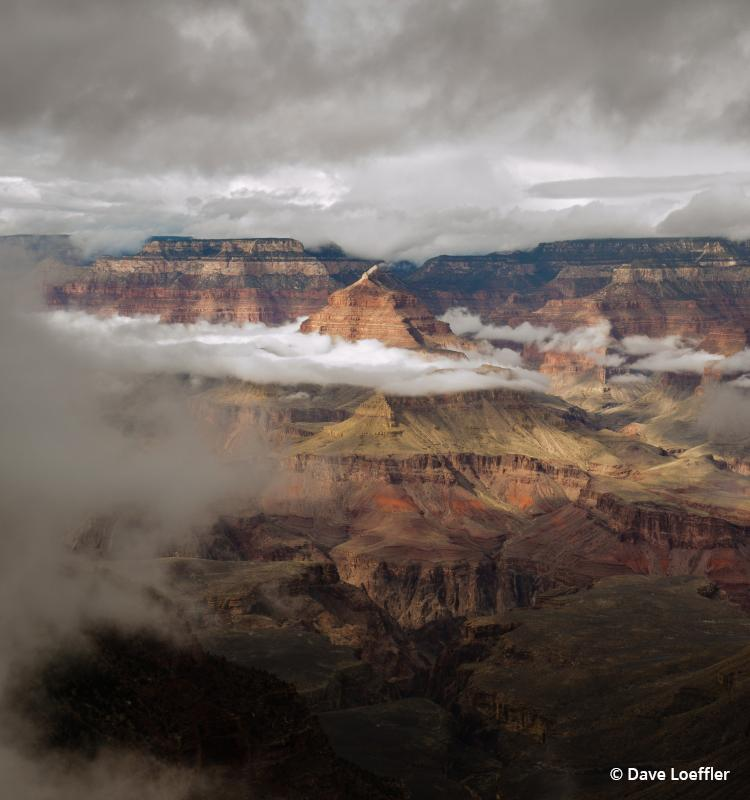 Today's Photo Of The Day is Isis Templi In The Clouds, Grand Canyon by Dave Loeffler.