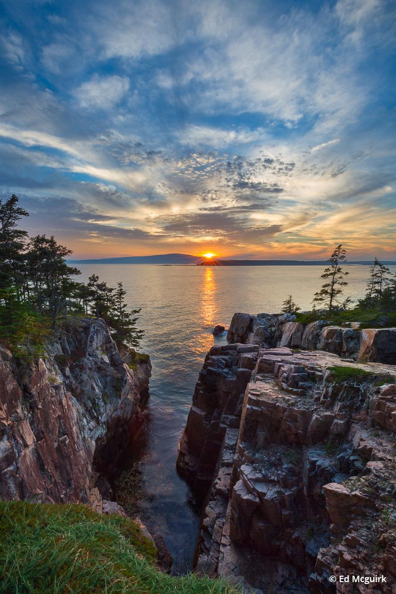 "Today's Photo Of The Day is ""Raven's Nest Sunset"" by Ed Mcguirk. Location: Acadia National Park, Maine."