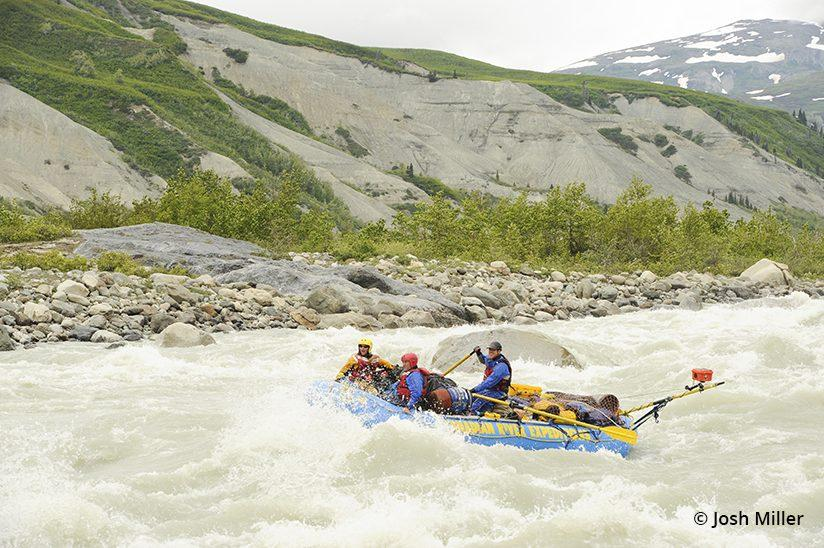 Whitewater rafting the Alsek River