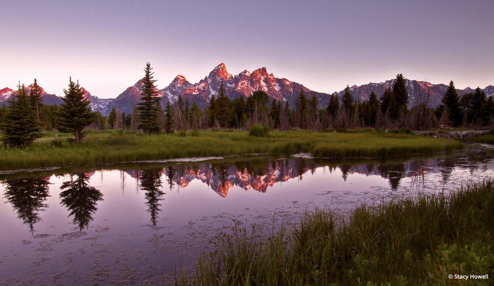 "Today's Photo Of The Day is ""Teton Sunrise"" by Stacy Howell. Location: Wyoming."