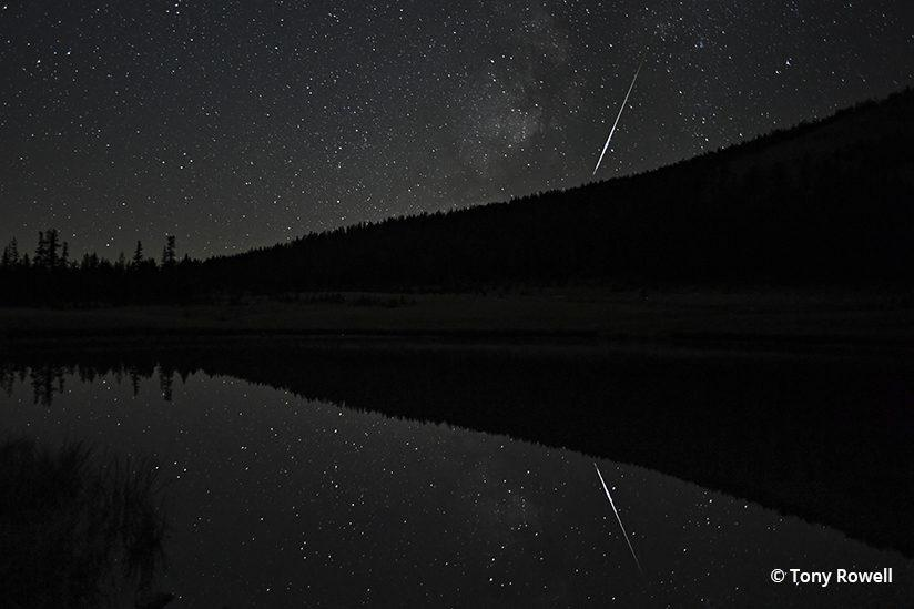 Today's Photo Of The Day is of a Perseid Meteor Reflection, taken at Tuolumne Meadows in Yosemite National Park.