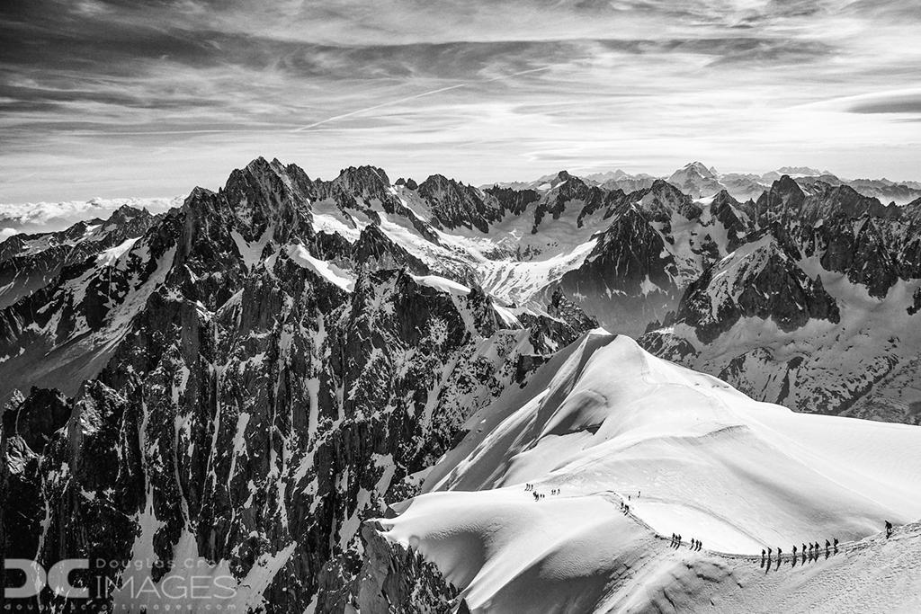 """Congratulations to Douglas Croft for winning the recent Monochrome Vision Assignment with his image, """"Aiguille du Midi."""""""