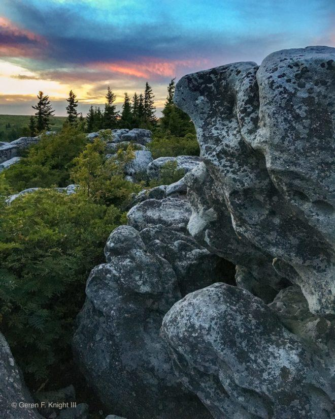 "Today's Photo Of The Day is ""Sunset Over Bear Rocks"" by Geren Knight III. Location: Dolly Sods Wilderness Area, West Virginia."