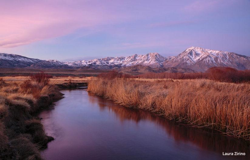 """Today's Photo Of The Day is """"The Edge of Blue to Pink"""" by Laura Zirino. Location: Bishop, CA."""