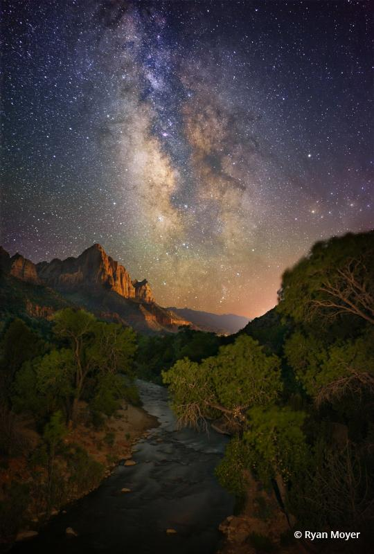 "Today's Photo Of The Day is ""Galactic Watchman"" by Ryan Moyer. Location: Zion National Park, Utah."