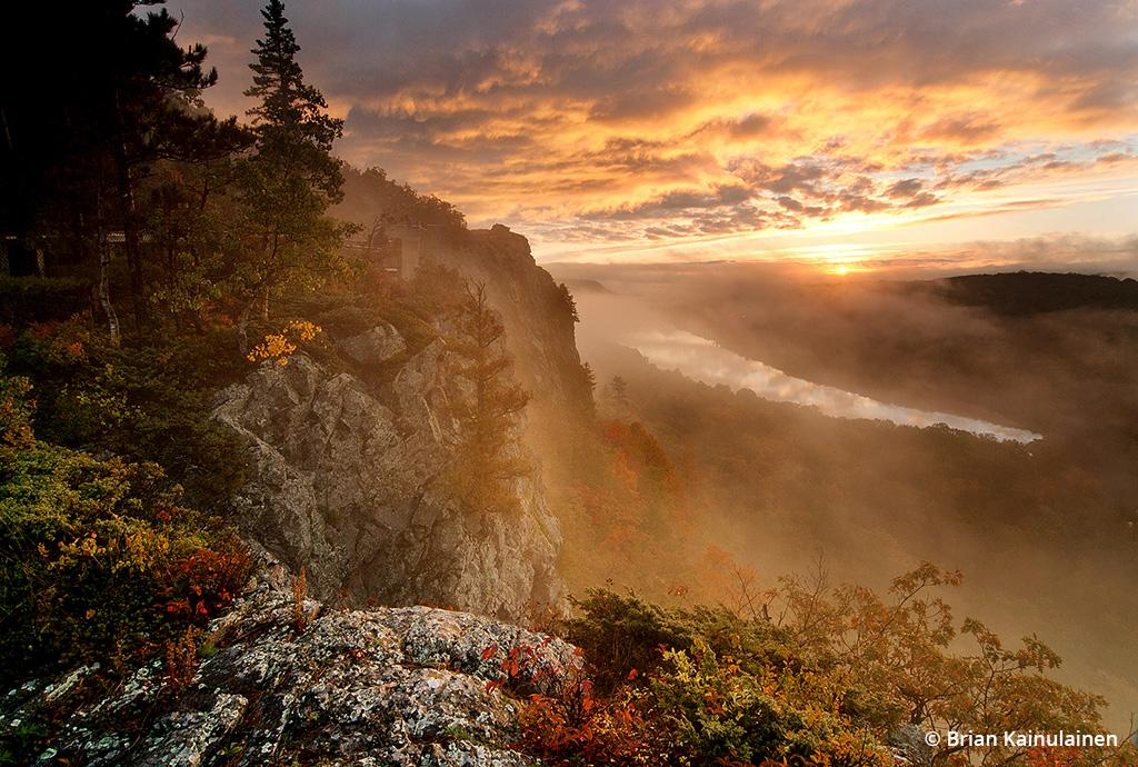"Today's Photo Of The Day is ""Dawning of a New Day"" by Brian Kainulainen. Location: Porcupine Mountains Wilderness State Park, Michigan."