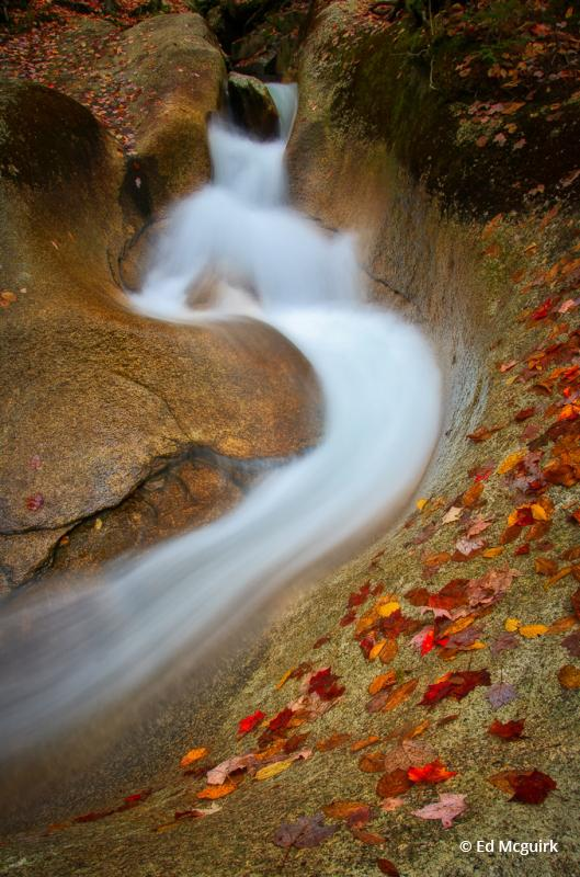 "Today's Photo Of The Day is ""The Basin In Autumn"" by Ed Mcguirk. Location: Franconia Notch State Park, New Hampshire."
