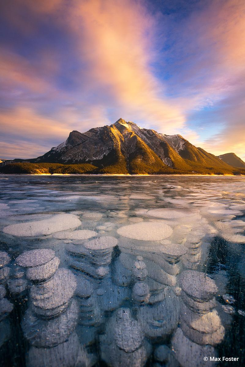 "Today's Photo Of The Day is ""Brilliant Depths"" by Max Foster. Location: Abraham Lake, Canadian Rockies."