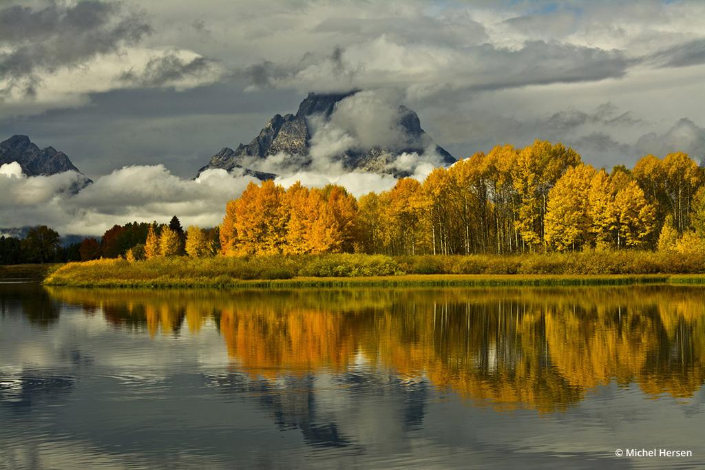 Today's Photo Of The Day is Cloudy Day at the Oxbow by Michel Hersen. Location: Grand Teton National Park, Wyoming.