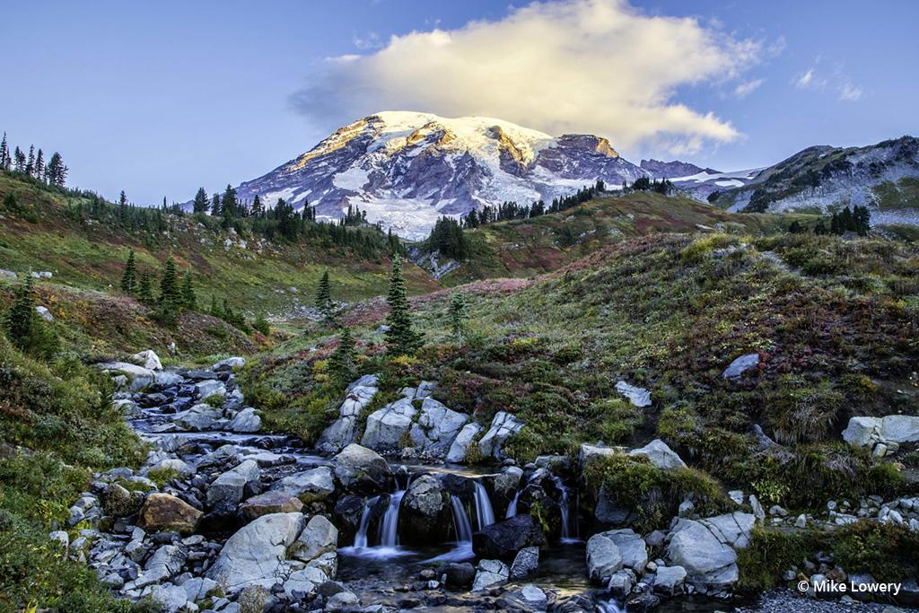 Today's Photo Of The Day is Breaking Light by Mike Lowery. Location: Mt. Rainier, Washington.