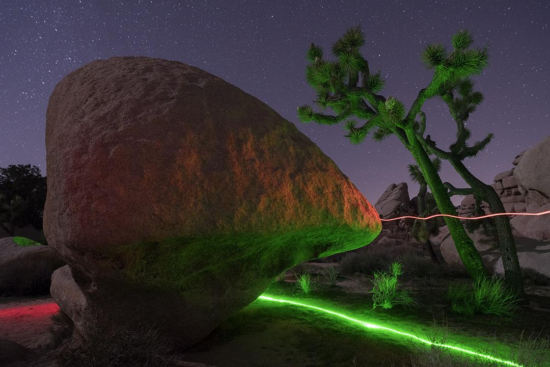 This photograph was made during a night photography trip to Joshua Tree National Park.