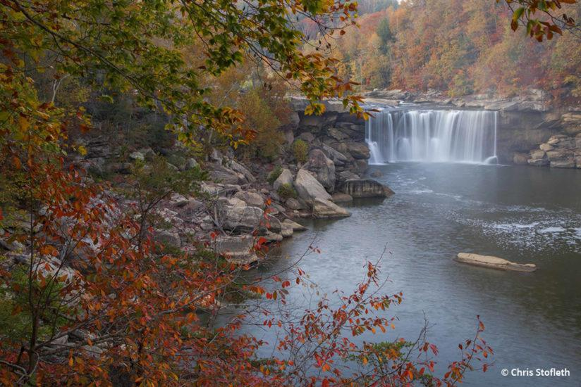 Today's Photo Of The Day is Cumberland Falls in Fall by Chris Stofleth. Location: Corbin, Kentucky.