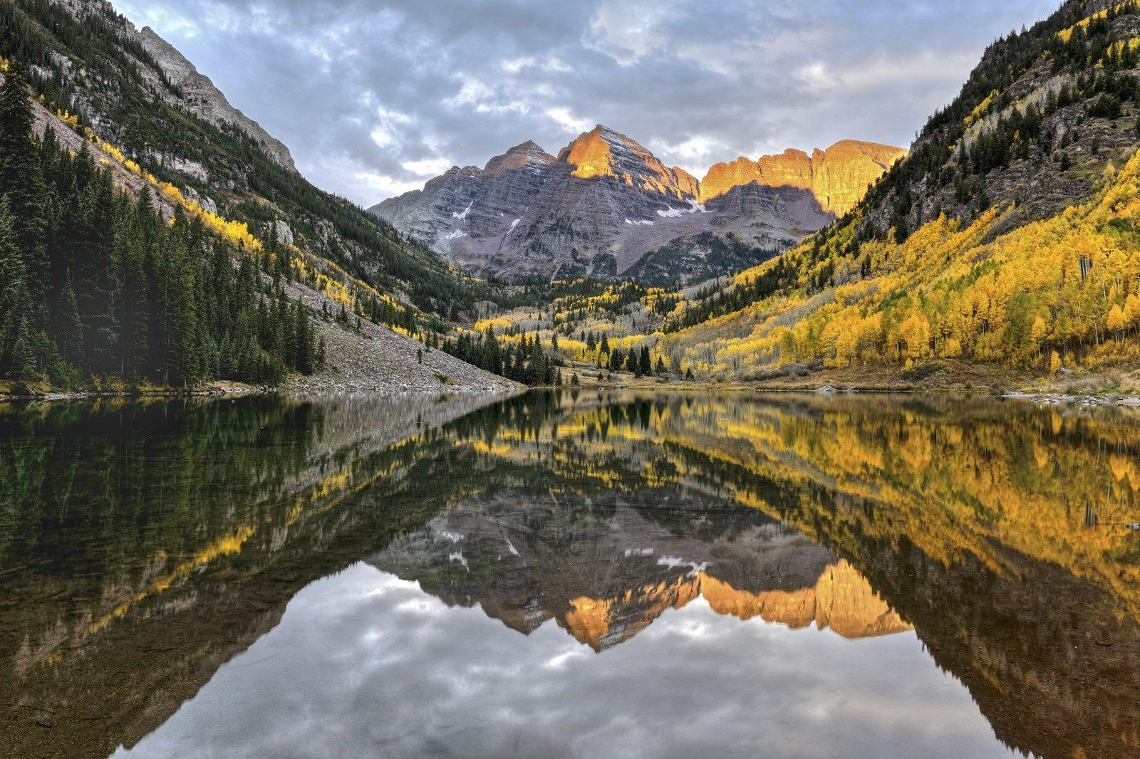 Today's Photo Of The Day is Marron Lake by Eric Grimm. Location: Maroon Lake, Aspen, Colorado.