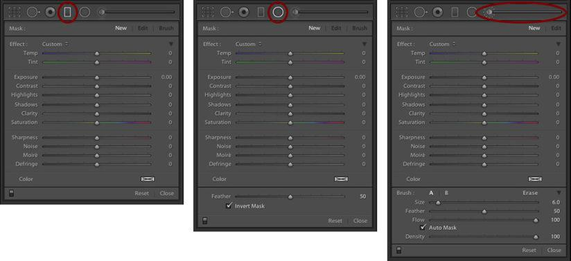 RAW Workflow Localized Adjustments