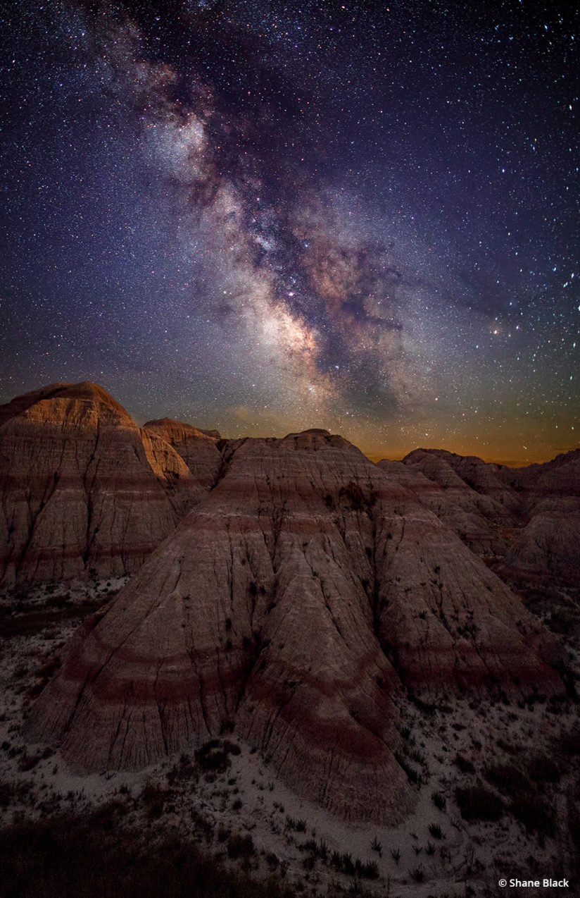 Night time-lapse photography - Badlands National Park