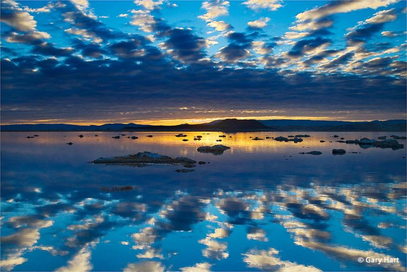 California's Eastern Sierra - Sunrise Mirror, Mono Lake.