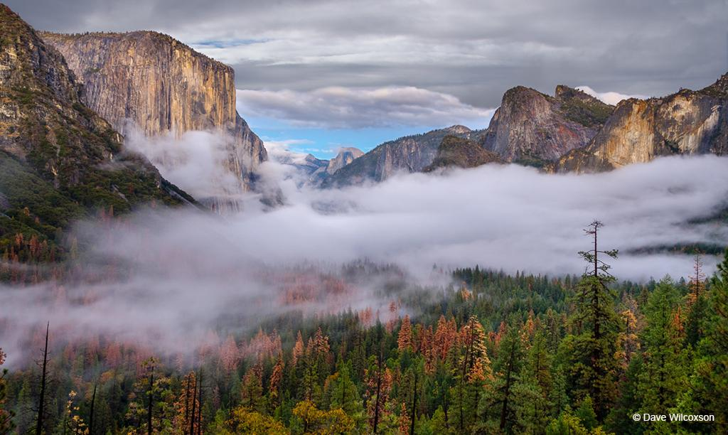 "Congratulations to Dave Wilcoxson for winning the recent Iconic Locations photo assignment with his image, ""Tunnel View – Clearing."""