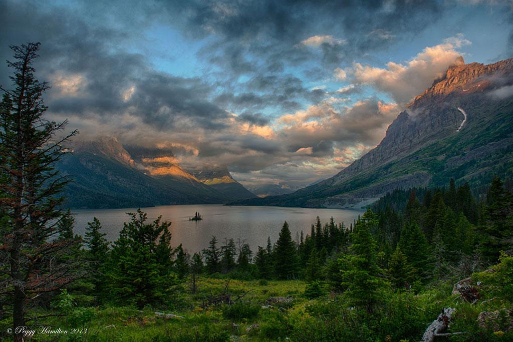 "Behind The Shot: Saint Mary Lake at Sunrise"" By Peggy Hamilton—Glacier National Park, Montana"