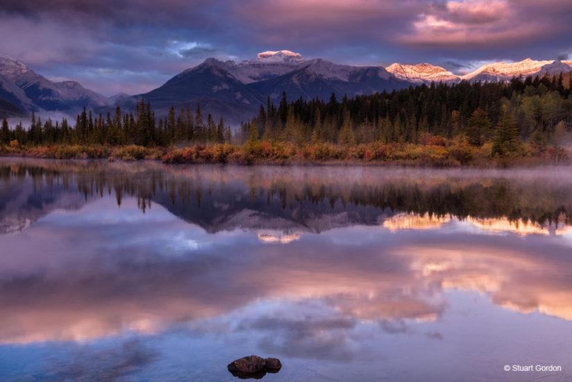 Today's Photo Of The Day is Sunrise at Vermillion Lake by Stuart Gordon. Location: Banff National Park, Alberta, Canada.