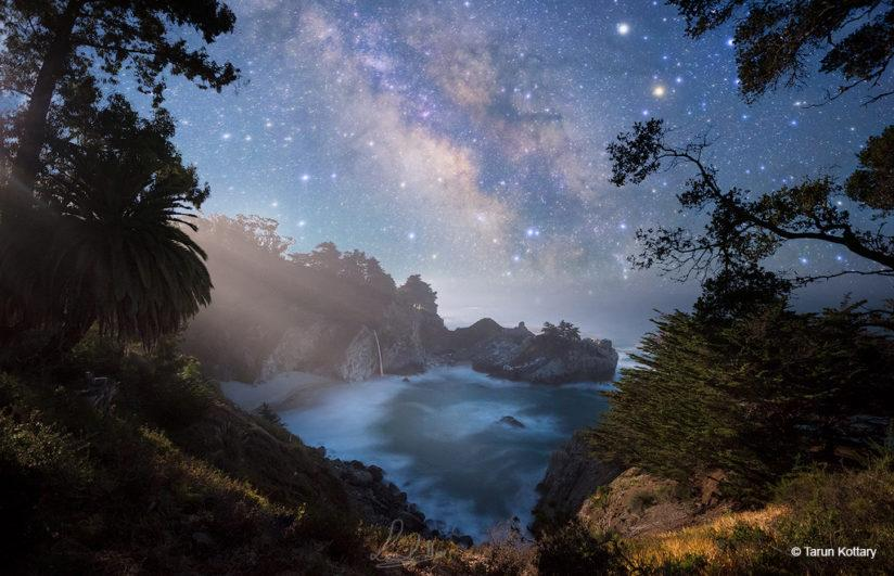 "Congratulations to Tarun Kottary for winning the recent Shooting Stars Assignment with his image, ""Moonlit Cove."""