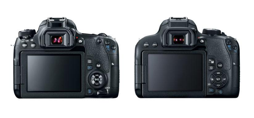EOS 77D and EOS T7i (back)