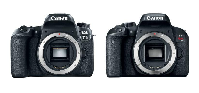 EOS 77D and EOS Rebel T7i (front)