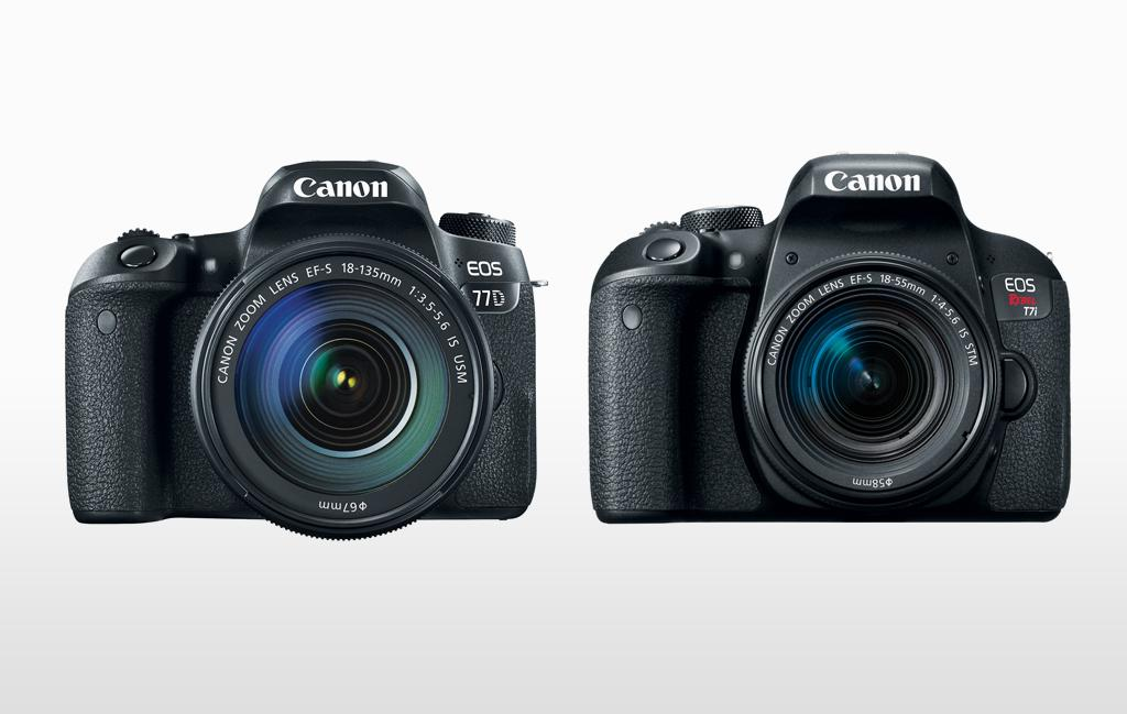 EOS 77D and EOS Rebel T7i