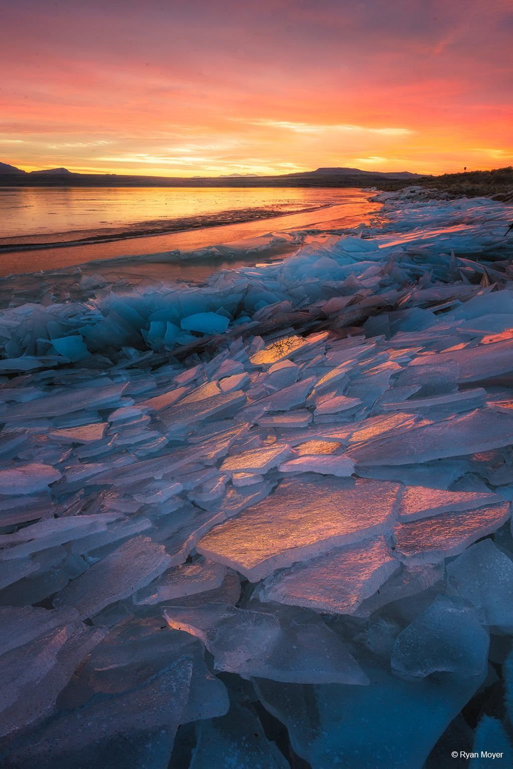 "Today's Photo Of The Day is ""Pink Ice"" by Ryan Moyer. Location: Great Salt Lake, northern Utah."