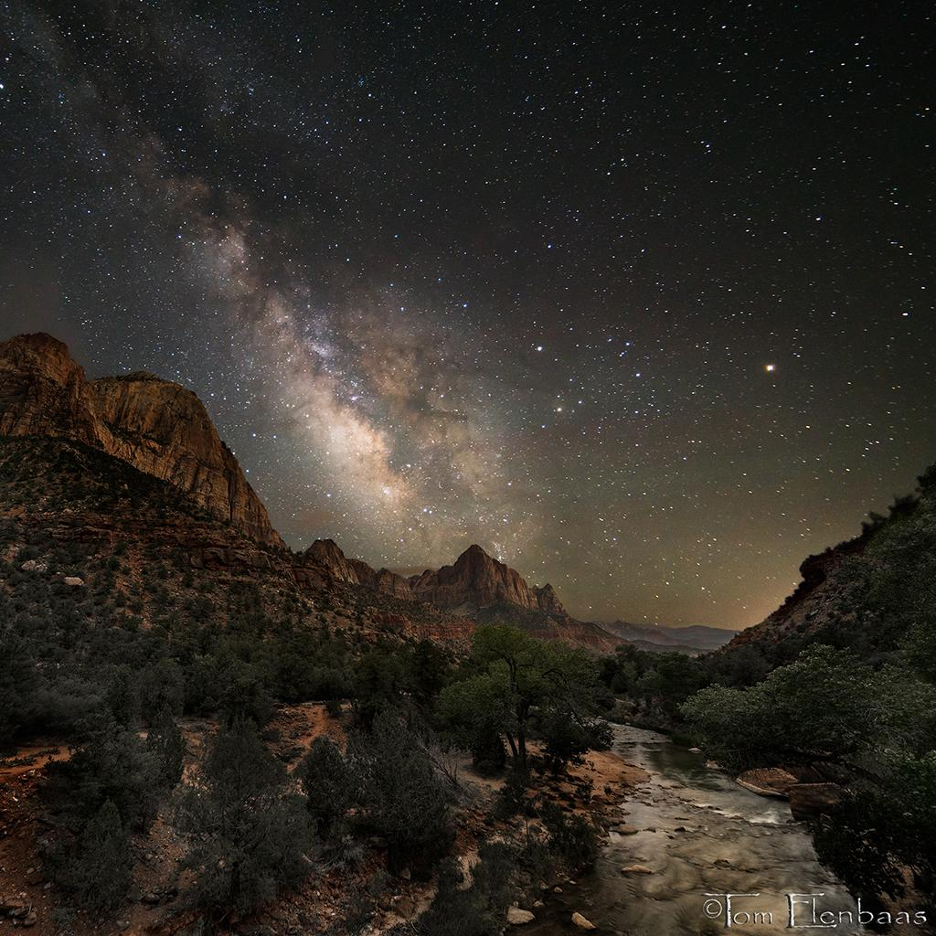 Behind the Shot: Watchman Milky Way by Tom Elenbaas—Zion National Park, Utah