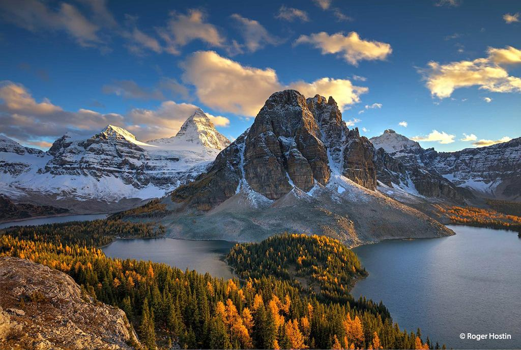 Mount Assiniboine and Sunburst Peak By Roger Hostin—Mount Assiniboine Provincial Park, British Columbia, Canada